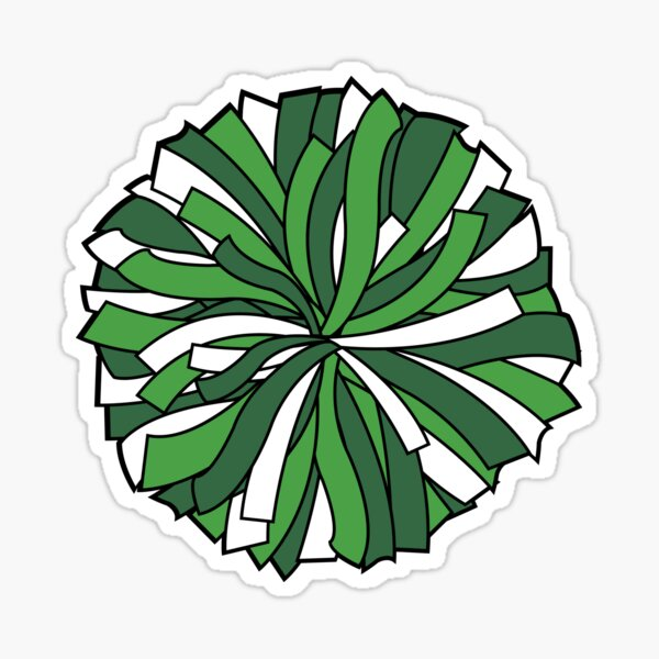"Green cheerleading pom pom"" Sticker by PepaAnaRB   Redbubble"