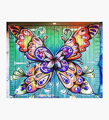 Butterfly Graffiti Photographic Print
