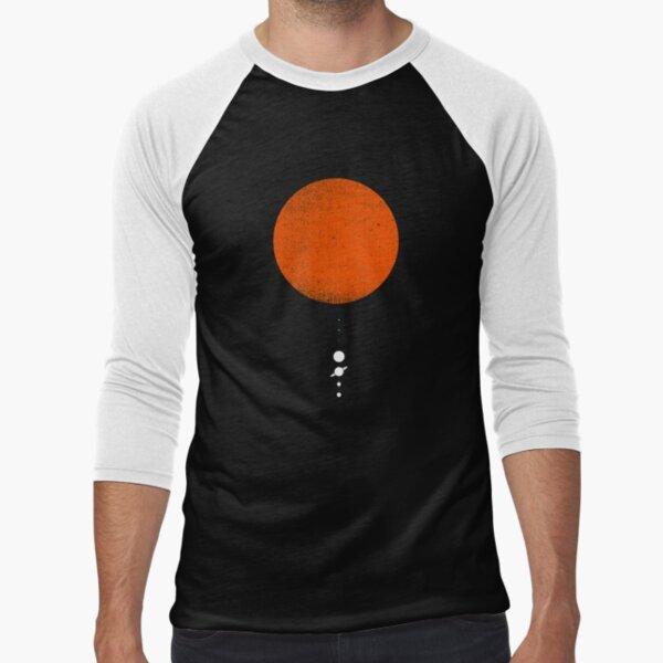 Minimal Solar System Baseball ¾ Sleeve T-Shirt