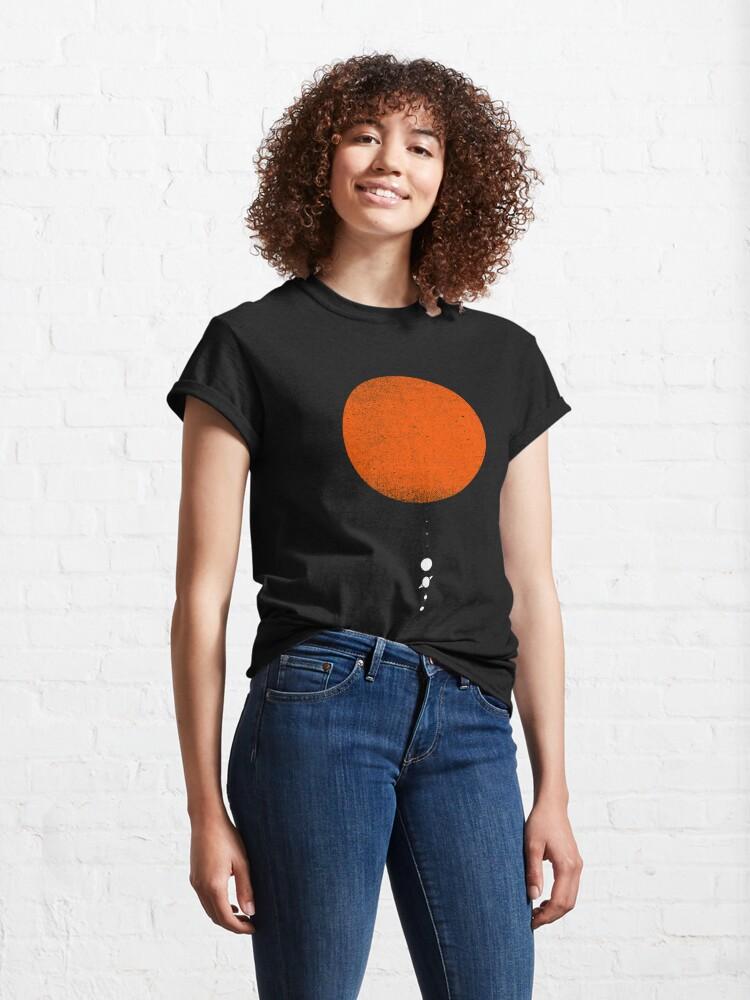 Alternate view of Minimal Solar System Classic T-Shirt