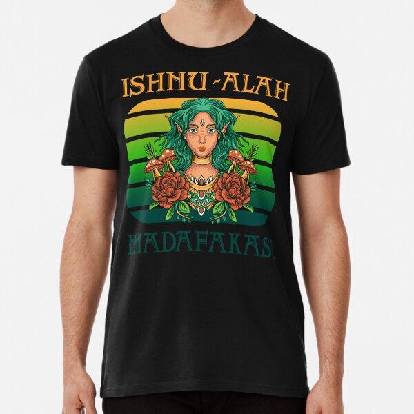 Kultiges MMORPG Motiv: Ishnu-Alah Madafakas! Nachtelfe im Sonnenuntergang Premium T-Shirt
