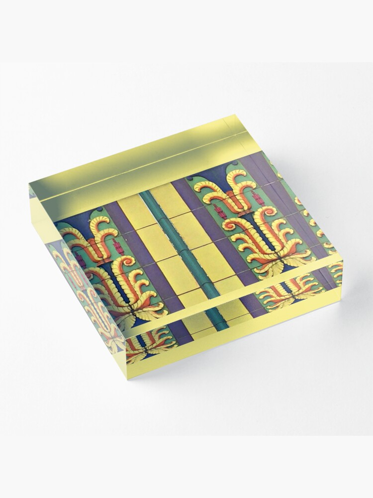 Alternate view of Art Deco Architecture-Lehigh Valley Dairy-Allentown PA Acrylic Block