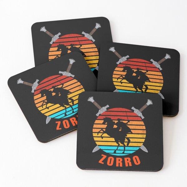 Der Zorro Untersetzer (4er Set)