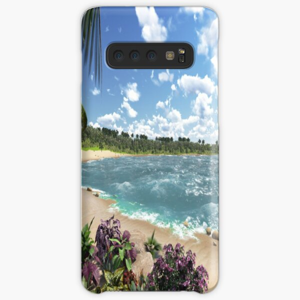 #Summer, #tropical, #beach, #water, sand, sea, island, travel, idyllic, sky, nature Samsung Galaxy Snap Case