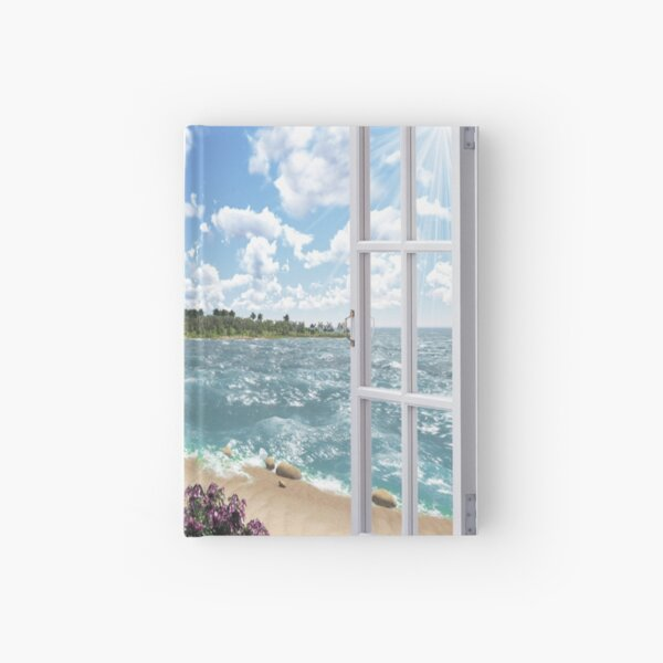 #Summer, #tropical, #beach, #water, sand, sea, island, travel, idyllic, sky, nature Hardcover Journal