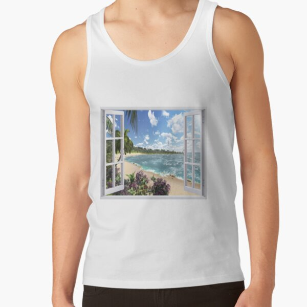 #Summer, #tropical, #beach, #water, sand, sea, island, travel, idyllic, sky, nature Tank Top