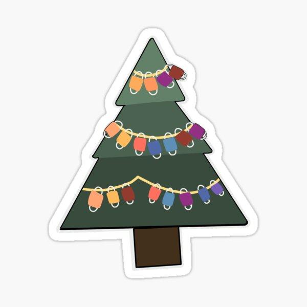 Masks on a Christmas Tree Sticker