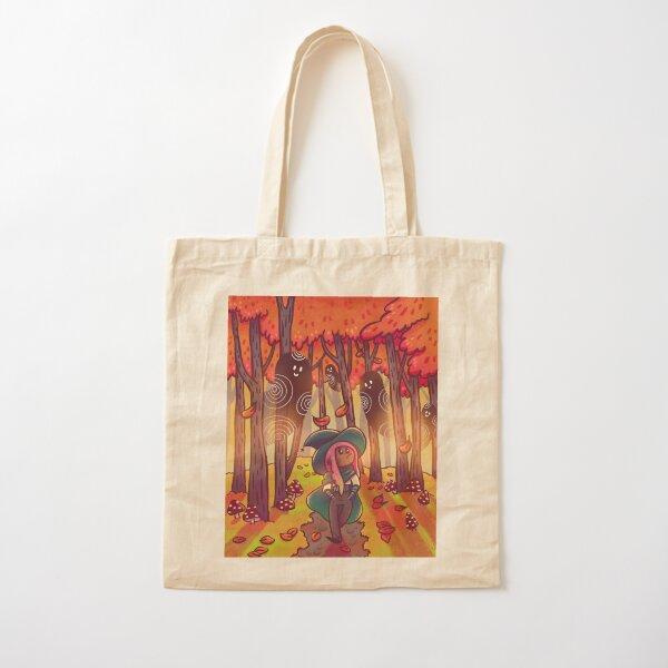 Autumn Stroll Cotton Tote Bag