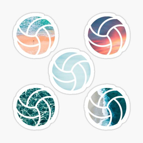 Cool Cute Beach Volleyball Laptop Sticker Design Sticker