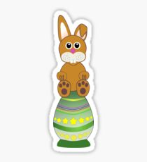 Easter Eggs with Rabbit Sticker