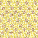 CARTOON PATTERN-BEES von Pattern-Color