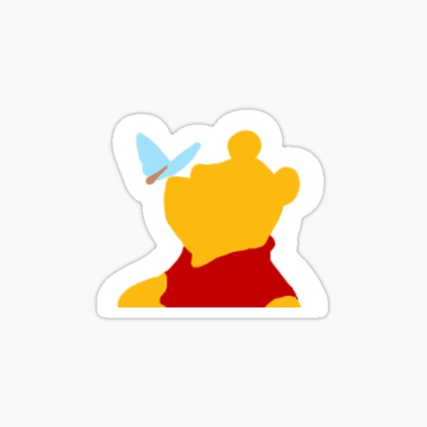 Pooh and butterfly Sticker