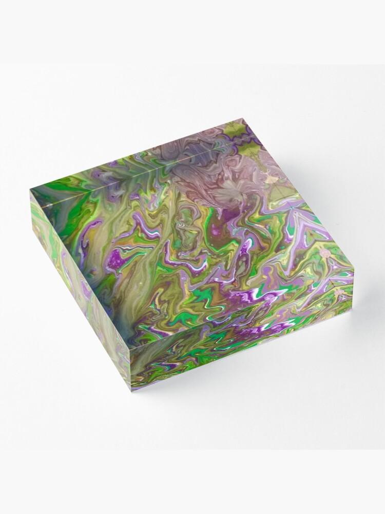 "Alternate view of Abstract Painting-""Mardi Gras'g""-Mardi Gras Acrylic Block"