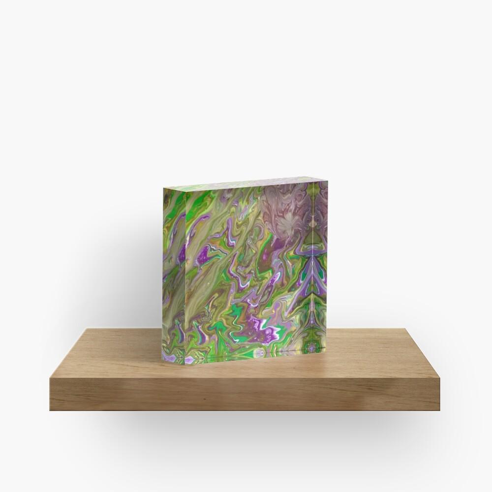 "Abstract Painting-""Mardi Gras'g""-Mardi Gras Acrylic Block"