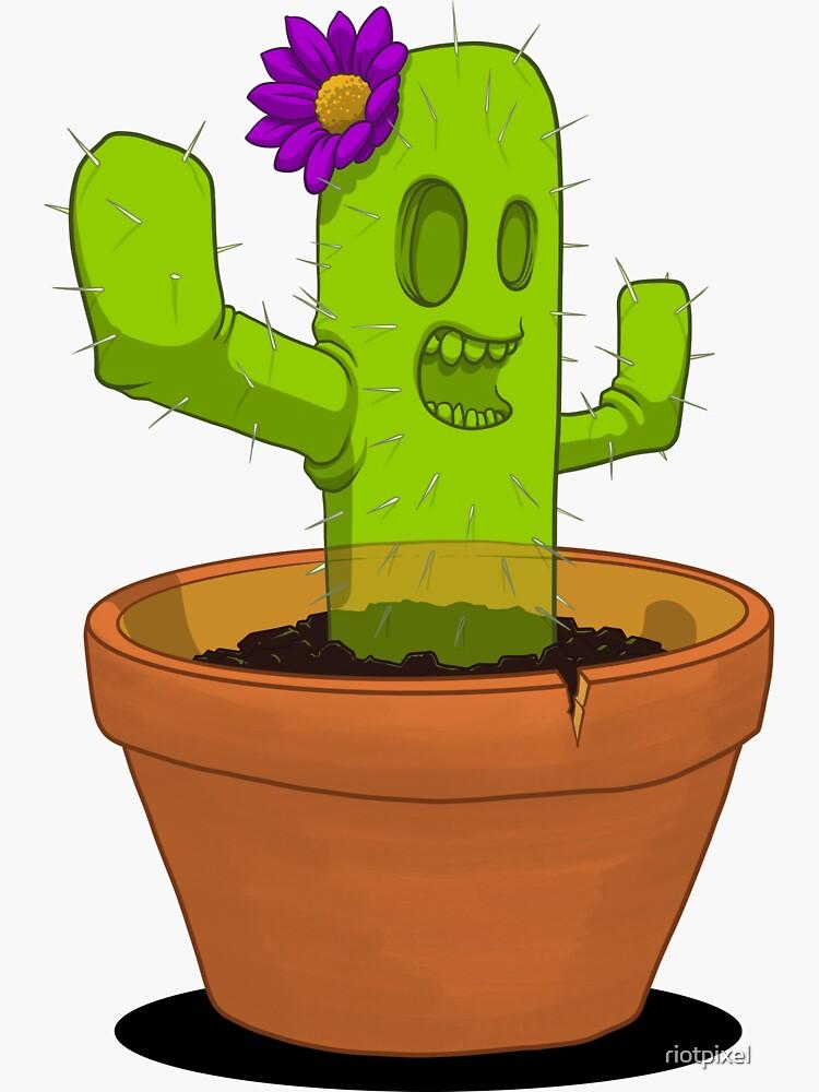 Spooky Succulent Cactus by riotpixel