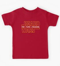 Beard Wars The Fuzz Awakens Men's Funny Beard Sci-fi T-Shirt. Kids Tee
