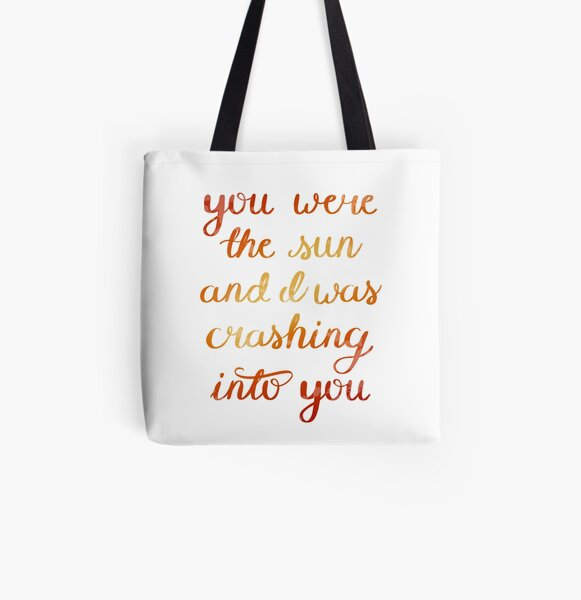 You Were The Sun All Over Print Tote Bag
