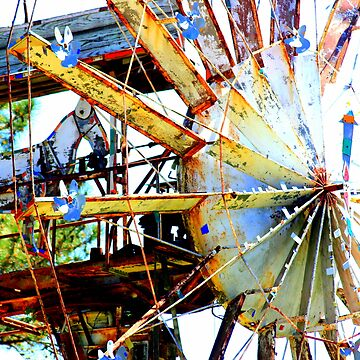 Covered Wagon Whirligig by CeciliaCarr