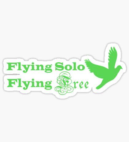 Flying Solo Flying Free Sticker