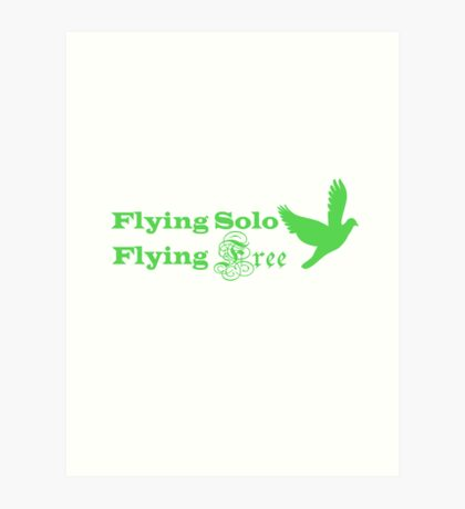 Flying Solo Flying Free Art Print