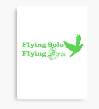 Flying Solo Flying Free Canvas Print