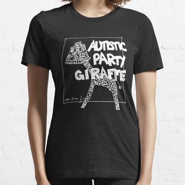 Autistic Party Giraffe - White Essential T-Shirt