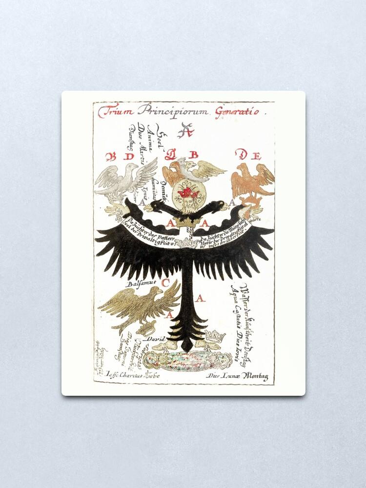 Alternate view of Pandora's box - The Alchemists' Compendium Metal Print