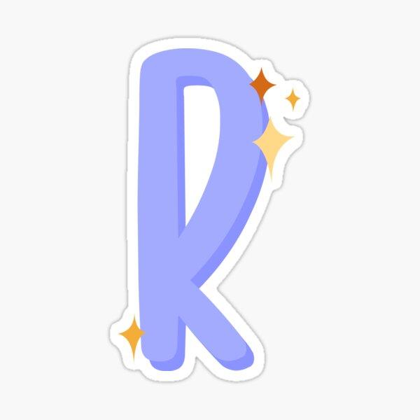 Cute Sparkly Alphabet Monogram Letter R Sticker