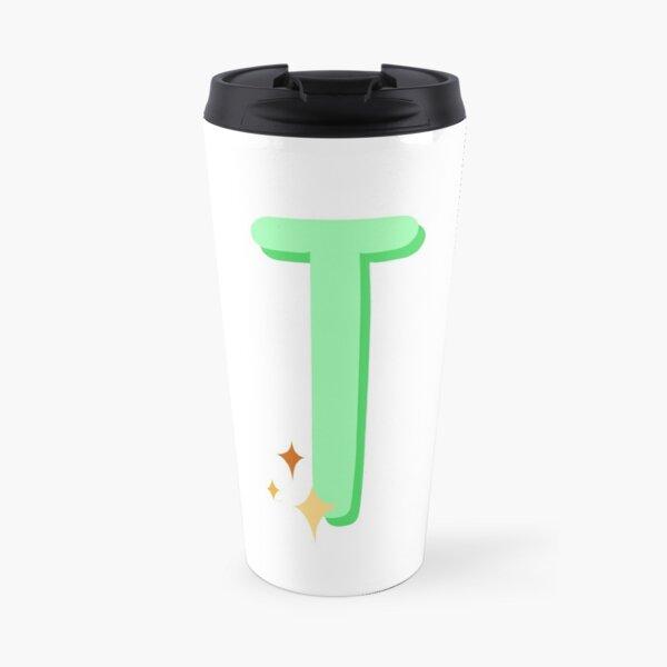 Cute Sparkly Alphabet Monogram Letter T Travel Mug
