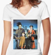 Michael Myers in Mary Poppins Women's Fitted V-Neck T-Shirt