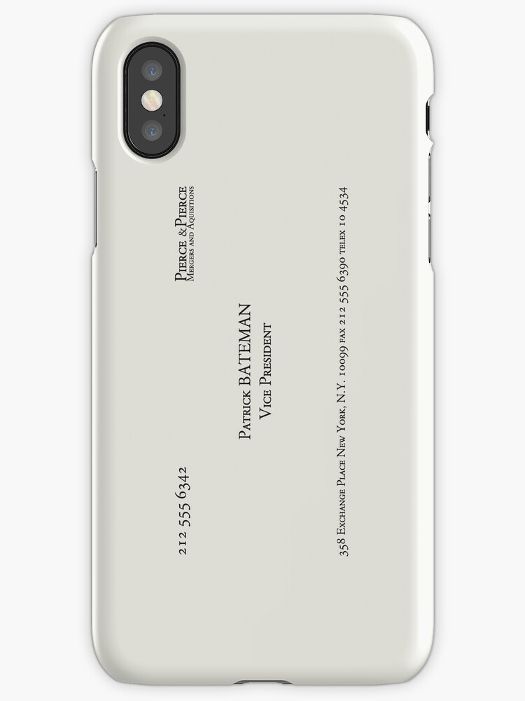 Patrick bateman business card iphone cases covers by patrick bateman business card by cutenessovrlord colourmoves