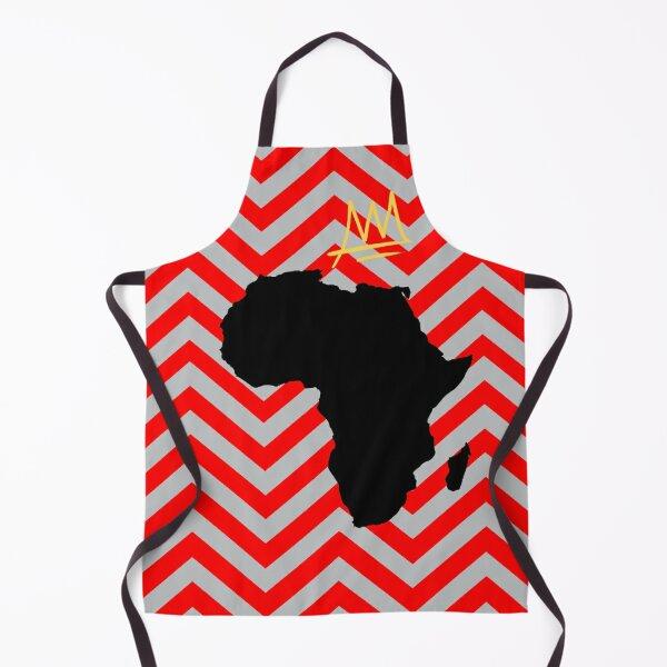 Africa Crown | Zigzag | Grey Apron