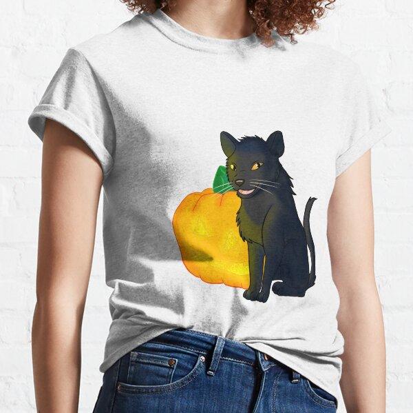 Halloween Black Cat and Jack O'Launtern Classic T-Shirt