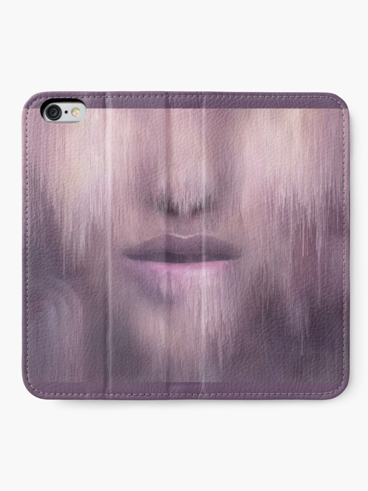 """Alternate view of """"Succumb"""" (tears, sadness, giving up) painting - """"Smile"""" Fine Art series iPhone Wallet"""