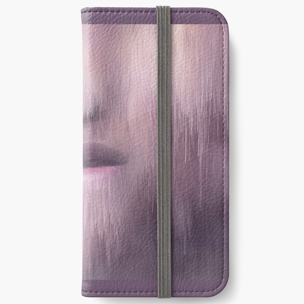 """""""Succumb"""" (tears, sadness, giving up) painting - """"Smile"""" Fine Art series iPhone Wallet"""