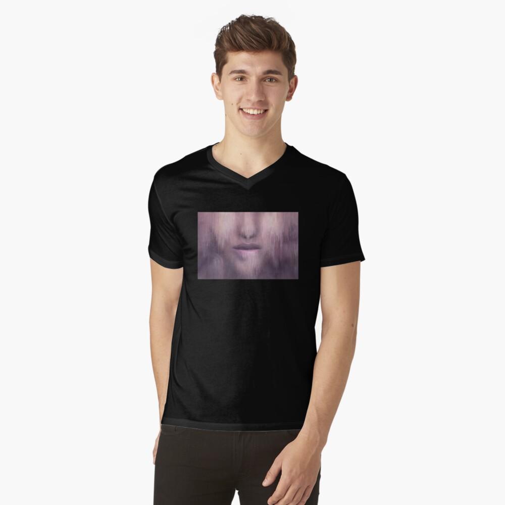 """Succumb"" (tears, sadness, giving up) painting - ""Smile"" Fine Art series V-Neck T-Shirt"