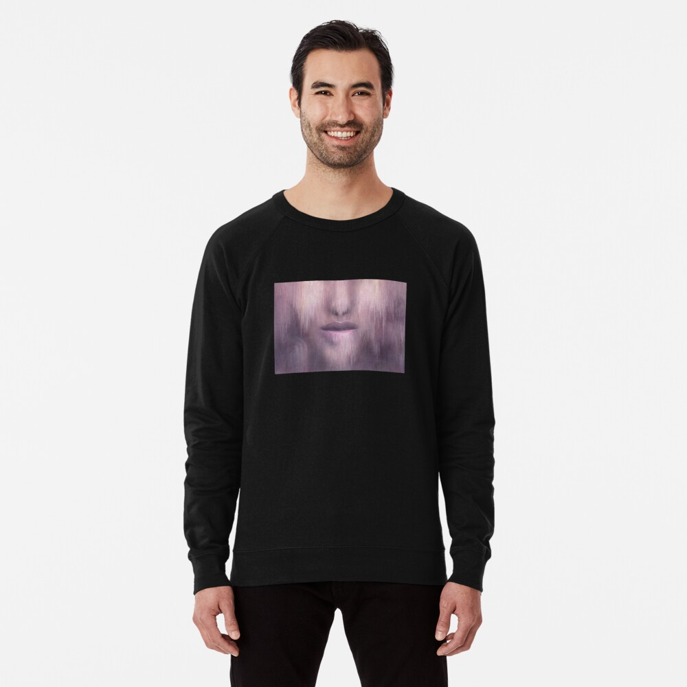 """Succumb"" (tears, sadness, giving up) painting - ""Smile"" Fine Art series Lightweight Sweatshirt"