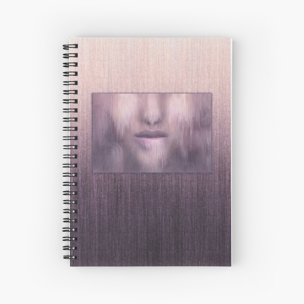 """""""Succumb"""" (tears, sadness, giving up) painting - """"Smile"""" Fine Art series Spiral Notebook"""