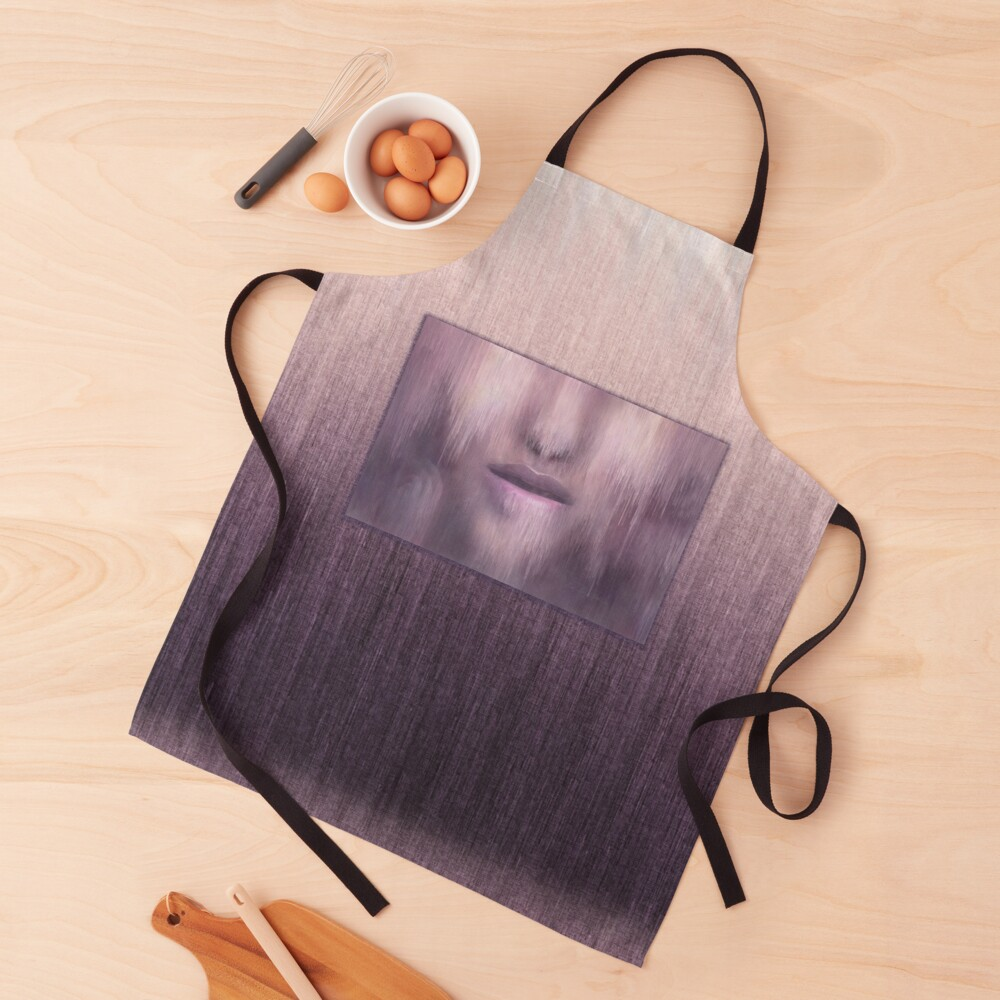"""Succumb"" (tears, sadness, giving up) painting - ""Smile"" Fine Art series Apron"