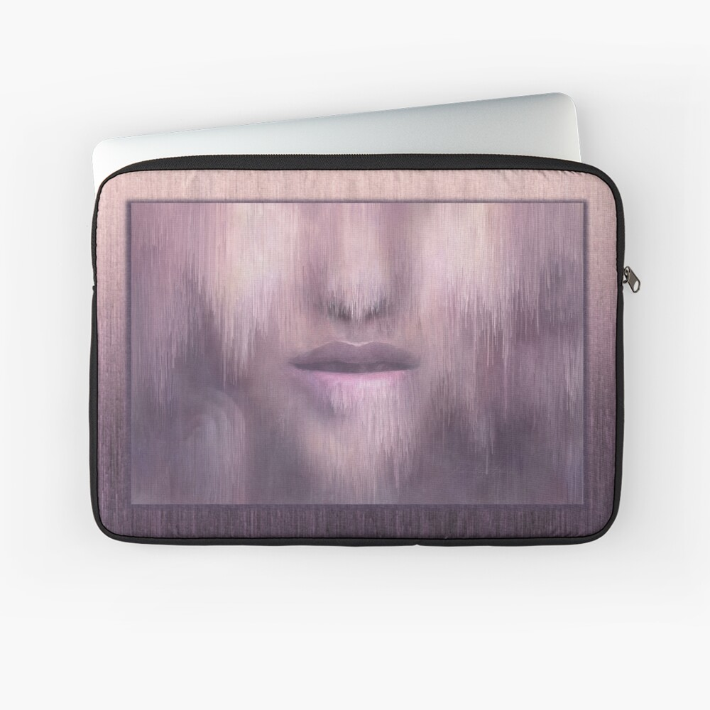 """Succumb"" (tears, sadness, giving up) painting - ""Smile"" Fine Art series Laptop Sleeve"
