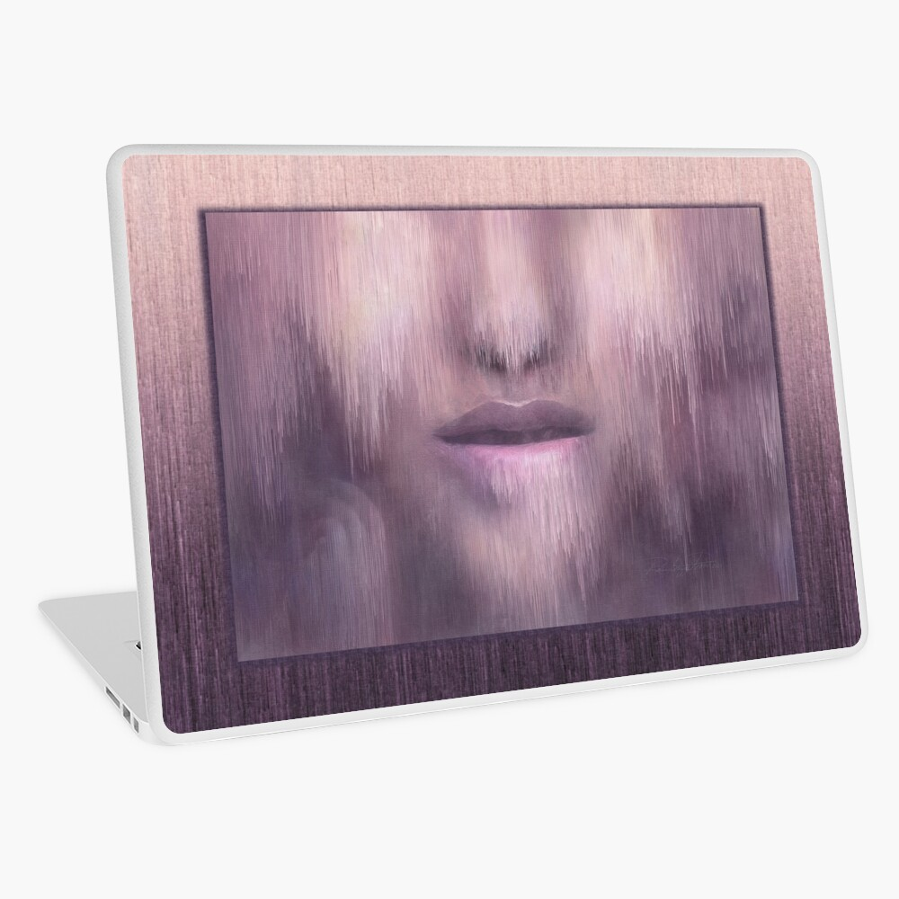 """""""Succumb"""" (tears, sadness, giving up) painting - """"Smile"""" Fine Art series Laptop Skin"""