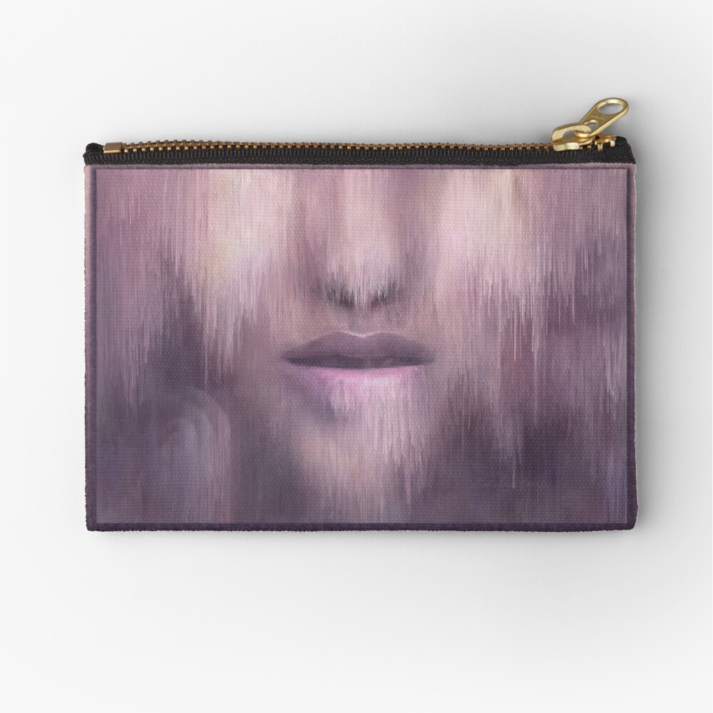 """Succumb"" (tears, sadness, giving up) painting - ""Smile"" Fine Art series Zipper Pouch"