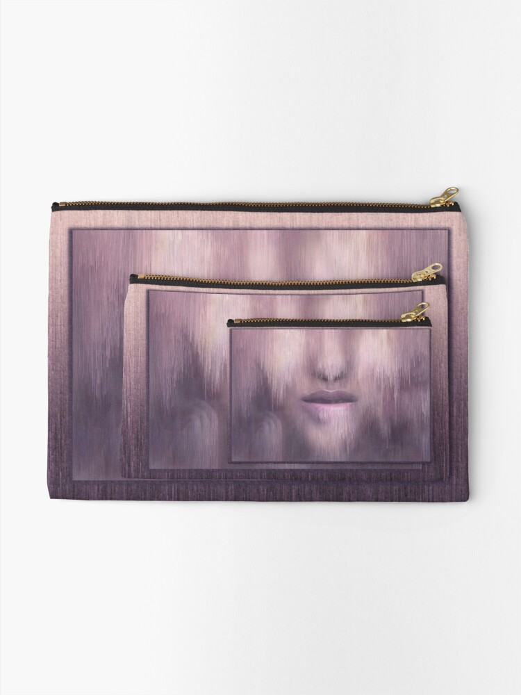 "Alternate view of ""Succumb"" (tears, sadness, giving up) painting - ""Smile"" Fine Art series Zipper Pouch"