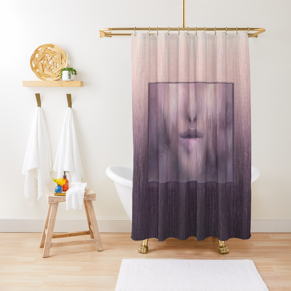 """""""Succumb"""" (tears, sadness, giving up) painting - """"Smile"""" Fine Art series Shower Curtain"""