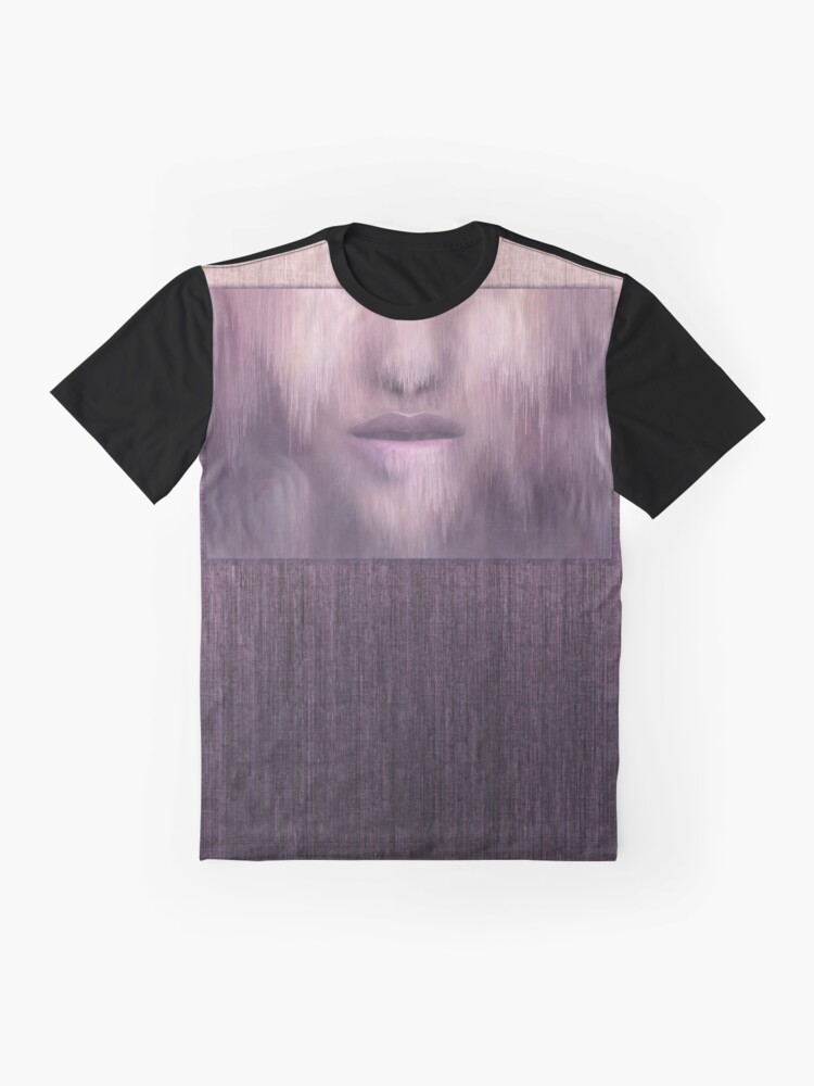 """Alternate view of """"Succumb"""" (tears, sadness, giving up) painting - """"Smile"""" Fine Art series Graphic T-Shirt"""
