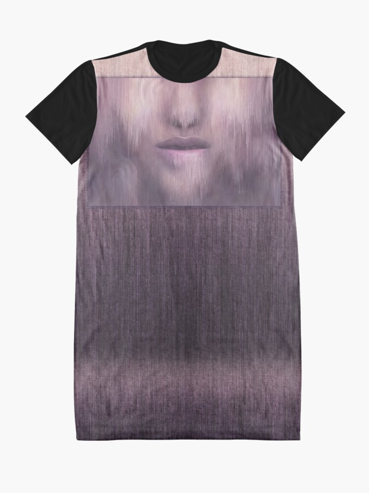 """Alternate view of """"Succumb"""" (tears, sadness, giving up) painting - """"Smile"""" Fine Art series Graphic T-Shirt Dress"""