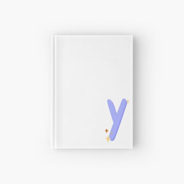 Cute Sparkly Alphabet Monogram Letter Y Hardcover Journal
