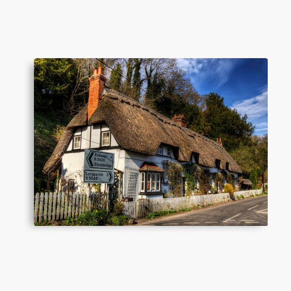 Shepards Cottage, Wherwell, Hampshire Canvas Print