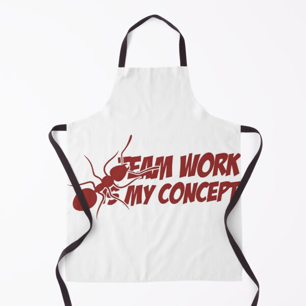 Teamwork is my concept sticker Apron