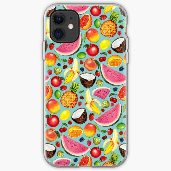 Fruit Pattern - Blue iPhone Soft Case